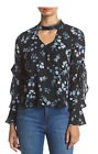 NEW Womens Living Doll Floral Ruffle Blouse NWT Small