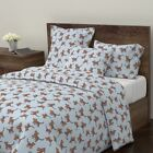 Tiger Lion Cat Zoo Jungle Animal Tara Put Sateen Duvet Cover by Roostery