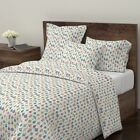 Christmas Christmas Ornament Holiday Retro Sateen Duvet Cover by Roostery