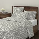 Beige Retro 50S Ottomanbrim Mid Century Modern Sateen Duvet Cover by Roostery