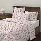 Girls Zoo Safari Geometric Cat Panther Leopard Sateen Duvet Cover by Roostery