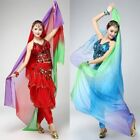 Chic Colorfu Belly Dance Imitated Silk Veil Shawl Scarf Gauze Gradient Costume