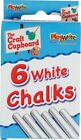 Playwrite Set of 6 Chalks Colour or Plain White Chalk