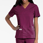 Urbane Womens Double Crossover Nurse Scrub Top. Two pockets. Style 9534.