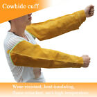 1 Pair Welding Sleeves 21.6 Inch Soldering Cowhide Fire Heat Insulating Cuff