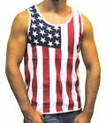 Licensed Mart Men's American Flag Stripes And Stars Tank Top Shirt