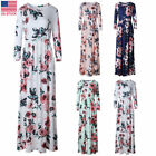 vestidos de xv 2013 - Boho Women Plus Size Floral Print Beach Party Vestidos Long Sleeve Maxi Dress