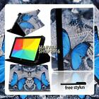 """For Various 7"""" 8"""" LG G Pad Tablet - FOLIO LEATHER STAND CASE COVER + Stylus"""