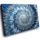 AB283 Blue Grey Spiral Cool Modern Abstract Canvas Wall Art Large Picture Prints