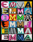 EMMA Name Poster featuring photos of actual sign letters