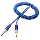 Hot 1Pcs Flexible 3.5 mm Male Spring Wire AUX Vehicle-mounted Audio Cable Tool