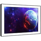 AB240 Blue Purple Sci Fi Planet Modern Abstract Framed Wall Art Picture Prints