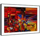 AB1477 Colourful Retro Cool Modern Abstract Framed Wall Art Large Picture Prints