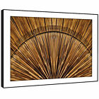 AB1340 Brown Wood Cool Funky Modern Abstract Framed Wall Art Large Picture Print