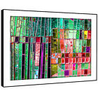 AB1469 Colourful Cool Funky Modern Abstract Framed Wall Art Large Picture Prints