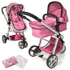 Pram travel system 3 in 1 combi stroller buggy baby child jogger push chair