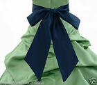 "NEW SATIN SASH 71"" 75"" 80"" ONLY 4 FLOWER GIRL DRESS PAGEANT HOLIDAY MULTI-COLOR"