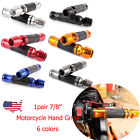 "6 Colors Motorcycle Hand Grips 7/8"" 22mm Handlebar For Honda Suzuki Parts US $12.0 USD on eBay"