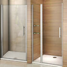 Frameless Pivot Shower Enclosure Door Hinges Cubicle 6mm Bathroom Glass Screen