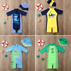 Внешний вид - Baby Kid Girl Boy Sun Protective Swimwear Rash Guard Costume Bathing Suit Set