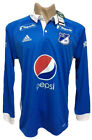 MILLONARIOS COLOMBIA HOME SOCCER JERSEY 2017  LONG SLEEVE image
