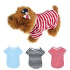 Pet Vest Summer Clothing For Dog Puppy Cat Stripe T Shirt Apparel 3 Color 5 Size