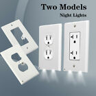 Duplex Night Angel Light Sensor LED Plug Cover Wall Outlet Coverplate Lot New