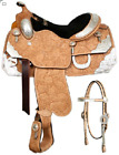 Showman SHOW SADDLE Bridle Reins Black Inlay Floral Leather FQHB Tons of SILVER
