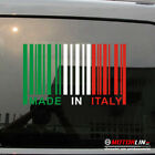 Made In Italy UPC Barcode Decal Sticker Italy Flag fit for Fiat Alfa Romeo
