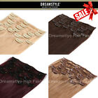 Clip In Remy Human Hair Extensions Full Head From Dreamstyle