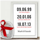 Personalised 5th Fifth Wedding Anniversary Gifts Couples Memorable Dates Gift