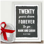 Personalised 20th Wedding Anniversary Gifts for Him Her 20 Years Anniversary