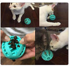 Pet Dog Bite Resistant Toy Food Treat Feeder Tooth Chaw Cleaning Ball Rubber
