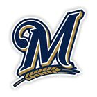 "Milwaukee Brewers "" M "" Decal / Sticker Die cut"