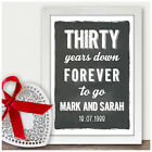 Personalised Pearl 30th Wedding Anniversary Gifts Chalkboard Style Print Gifts