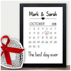 Personalised 30th Pearl Wedding Anniversary Gifts Wedding Date Gifts for Him Her