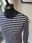 Breton T-Shirt 60s Stripe Striped Long & Short Sleeve Cotton Mod Blue White POP
