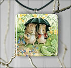 BEATRIX POTTER MISS POTTER PENDANT NECKLACE OR EARRINGS -dfs3X