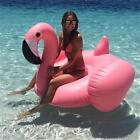 Inflatable Flamingo Giant Pool Float Pink Ride-On Swimming Ring Adults Party Toy