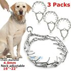 Внешний вид - 3Pack Dog Training Choke Chain Collar Adjustable Metal Steel Prong Pinch X-Heavy