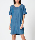 New Maison De Nimes House Of Fraser Denim T-Shirt Shift Dress RRP 45 Sizes 6-18