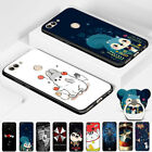 New Patterned Soft TPU Silicone Case Cover + Sling Ring for Huawei P Smart / Y7