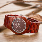 UWOOD Mens Wooden Watch Made from 100% Natural Sandal Solid Wood Watch Relogio