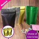 Both Sided Colored & Clear Front Colorful Back Foil Mylar Stand up Zip Lock Bags