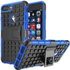 For iPhone X 8 Plus 7 Shockproof Hybrid Rubber Hard Case Cover with Kick-Stand