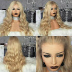 Brazilian100% Real Human Hair Wig Ash Brown Blonde Remy Full Lace Front Wigs