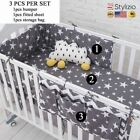NEW Grey Star Bedding Set,Multi-Functional Baby Safe Sleeping Bed Bumpers Set So