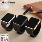 Black Bluetooth Smart Wrist Watch Touch Screen Phone Mate for Android iPhone IOS