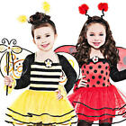 Ballerina Bugs + Wings Girls Fancy Dress Halloween Kids Childrens Child Costumes