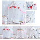 Kids Bed Canopy, Indian Princess Tent Hanging Play Tent Canopy Indoor Game image
